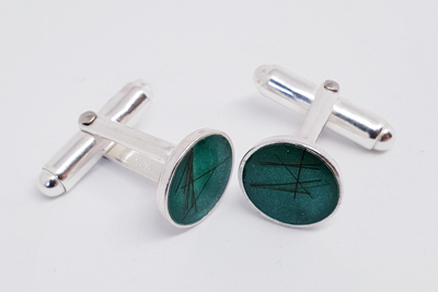 Resin Filled Cufflinks
